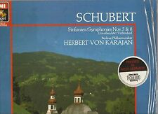 KARAJAN/Berlin Philharmonic~SCHUBERT Symphonies GERMAN LP audiophile DMM digital