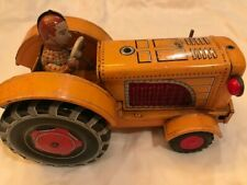 Vintage Tin Tractor w Driver T.N. Japan
