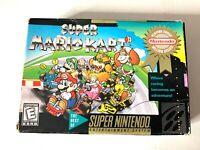 SUPER MARIO KART (Super Nintendo) RARE AUTHENTIC Players Choice Box ONLY!
