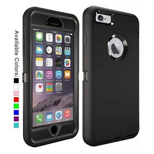 For iPhone 6 6s Plus Case Shockproof Fits Defender Belt Clip Screen Protector