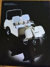 Original AMF HARLEY-DAVIDSON 3-Wheel Electric Golf Car SPECIFICATIONS INFO SHEET