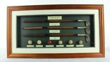 Vintage History of Golf Collectible Shadow Box Wood Framed Hanging Display Case