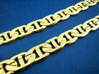 Collier Chaîne en or 18 carats plaqué or ,50cm x 8mm