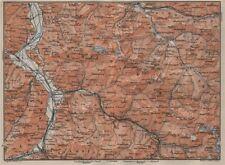 BAD RAGAZ PRÄTIGAU MONTAFON ENVIRONS. Wangs Rätikon Bludenz Maienfeld 1905 map