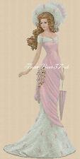 Cross stitch chart  Elegant Lady 156K full length     Flowerpower37-uk