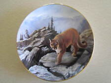 Collector Plate, Big Cats of the World. A Wisconsin Cougar, D. Manning