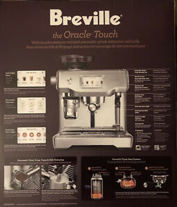 Breville The Oracle Touch Espresso Machine, 120V, 1800W, BES990BSS1BUS1*