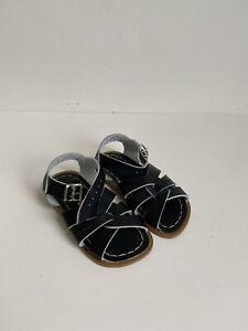 Salt Water Sandals The Original Sandal in Black Infant Toddler size 7