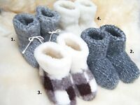COZY FOOT, Womens/Mens Natural Sheep Wool Sheepskin Slipper Boots All Size