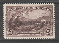 s37511 SAN MARINO MNH** 1928 L. 2,50 San Francesco 1v Sassone 139