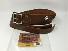 Hunter® 165-1 WESTERN Cartridge RH Drop Belt .44/.45 Cal. Brown Leather MEDIUM