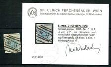 ÖSTERREICH L+V 1850 5X gestempelt + FEDERZUG BEFUND FB VÖB 130€++(K7502