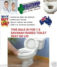 "RAISED TOILET SEAT WITHOUT LID SAVANAH 50MM  (2"") EASY CLIP ON"