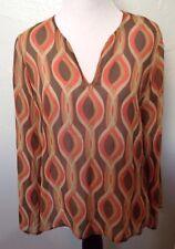 KENNETH COLE REACTION Flowy Thin 3/4 Sleeve /Long Sleeve Shirt! Size 6 Medium