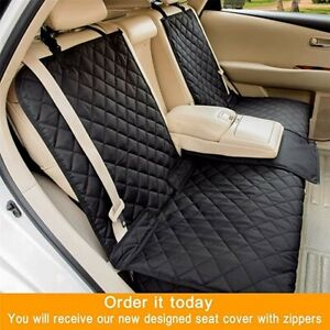 Waterproof Spill proof Car Seat Cover for Pets Middle Seat belt Compatible Uber