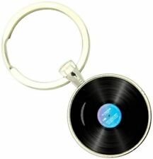 Bassin and Brown Unisex Vinyl Disc Key Ring - Black/Blue