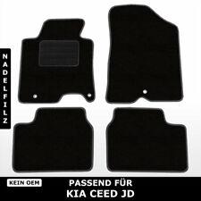 Fußmatten Passend für Kia Ceed JD (ab 2012) - Schwarz Nadelfilz 4tlg