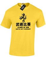 ISLAND OF HAN MARTIAL ARTS MENS T SHIRT MOVIE GYM MMA ENTER THE DRAGON KUNG FU