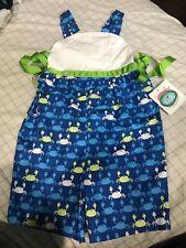Girls Sz 6 Beach Crab Romper Sun Suit Hummingbird Kids Boutique NWT