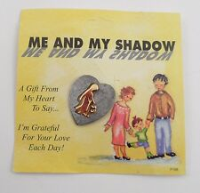 NOS Me and My Shadow Guardian Angel Mom Dad Parent Heart Protect Hat Lapel Pin