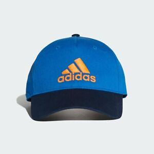 New Mens Adidas Graphic Six Panel Training Cap Hat Blue/Orange
