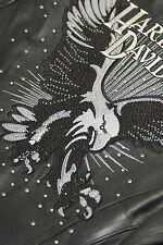 Harley Davidson Women DAZZLE Leather Jacket Rhinestones Eagle 97027-08VW M RARE