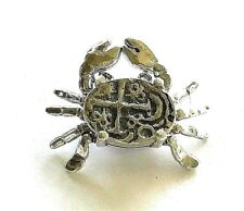 ATOCHA Coin Pendant Crab Sterling Silver 925 Pirate Sunken Treasure Jewelry