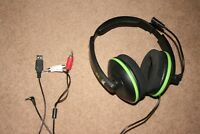 Turtle Beach X12 Black Headphones Headset for Xbox 360 & PC Amplified Gaming