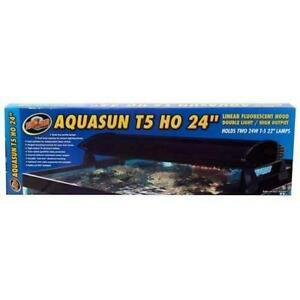 "AquaSun Dual T-5 HO Hood 24"" - ZooMed"