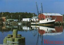 TRAWLER UNLOADING CATCH,DOCK ON ROANOKE ISLAND-WANCHESE,NC