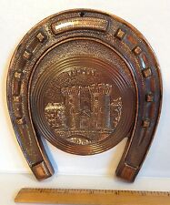 France~Verdun~the Porte Chaussee~Metal Plaque Souvenir~Horseshoe & Castle~3D