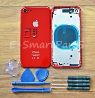 ALLOY METAL COMPLETE HOUSING GLASS BATTERY COVER REPLACEMENT FOR iPhone 8 RED