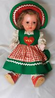 "German or Austrian Doll Melitta Wien Circa 1950's 12"" Tall"