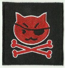 écusson ECUSSON PATCHE PATCH THERMOCOLLANT CHAT CAT CORSAIRE DIM. 6,3 X 6,3 CM