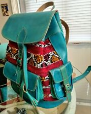 🍁SOUTHWEST FALLDEALS🍁TEAL100% Leather/Tapestry Travel Backpack