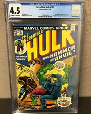 INCREDIBLE HULK #182 CGC 4.5 OW/WH PAGES / 3RD APPEARANCE WOLVERINE POST 181