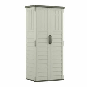 Outdoor Storage Shed Suncast 22 cu. Ft. Vertical Resin For Backyard Patio Deck