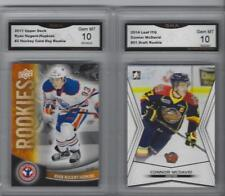 CONNOR MCDAVID & RYAN NUGENT-HOPKINS 2 CARD ROOKIE LOT GEM MINT 10 OILERS