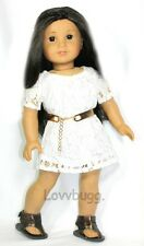 Indie White Lace Dress for 18 inch Doll Clothes American Girl   Widest Variety