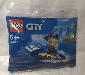 Brand New & Sealed LEGO 30567 City Police Water Scooter Polybag