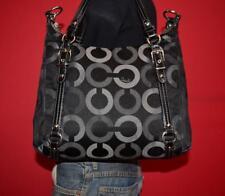 COACH Large Black Jacquard ALEXANDRA Op-Art Leather Cross-Body Purse Bag 15568