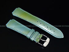 Authentic TechnoMarine 2530 Blue Green (Pastel Blue) Leather Strap W Buckle 15mm