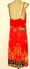 EVER-PRETTY BrightEthnicPrintRuchedRearVneck Sz18 NWoT