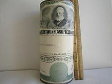 "AMERICAN TELEPHONE AND TELEGRAPH COMPANY; 1960 X-Large Metal Coin Bank 8""H x 4""D"