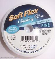 Soft Flex 21 Strand Beading Wire (0.14) Steel Tone 30ft