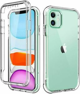 CASE For iPhone 12 11 Pro Max Mini XR SE 8 7 6 Plus All round Transparent Cover