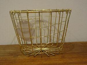 Drahtkorb Gold glänzend Metall 14x20 cm Dekokorb