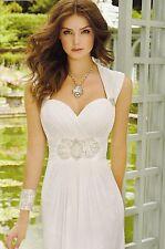 Destination  Ivory Chiffon Empire Waist Sweetheart  Wedding Gown Sz 12