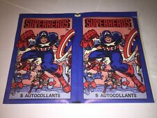 1980 Marvel Super Heroes  Lot of 2 EMPTY Sticker packs -French CANADIAN Edition