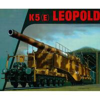 DIY 1/35 K5 Leopold Railway Gun with Keel 3D Paper Model Military Puzzle Kits